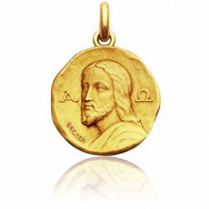 Médaille Christ Catacombes Or Jaune 18K