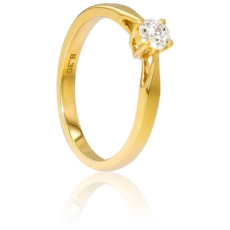 Bague Solitaire Paris Or Jaune & Diamant 0,30ct