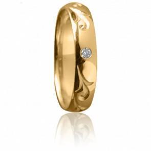 Alliance Majesté or jaune et diamant