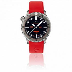 Diving Watch UX GSG 9 Bracelet  Silicone rouge