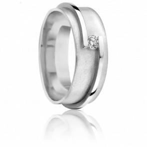 Alliance Maïa or blanc et diamant