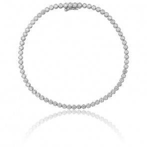 Bracelet Pluie Or Blanc 9K et Diamants 1,52 ct
