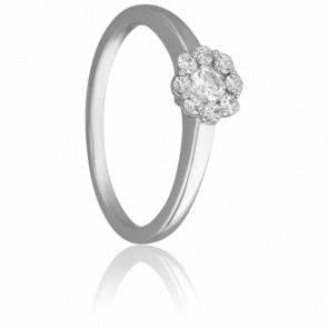 Bague Solitaire Valentin, Diamant 0,30 ct & Or Blanc 18K