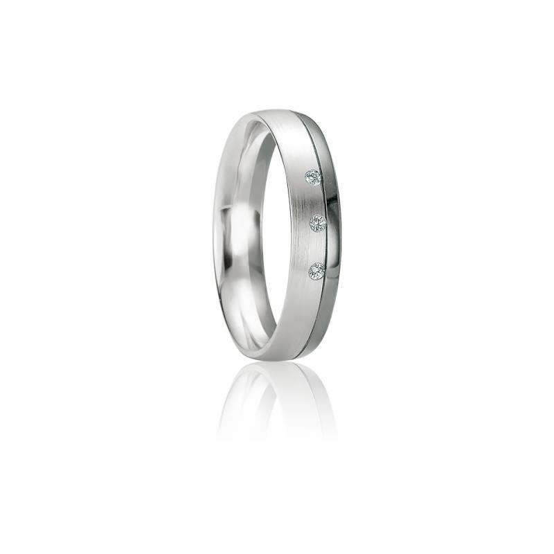 Alliance Santorin Diamants & Or Blanc 18K