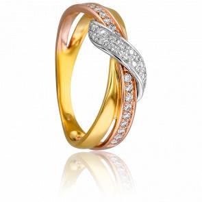 Bague 3 Ors & Diamants 0,192 ct