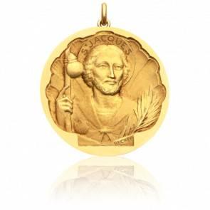 Médaille Saint Jacques Or Jaune 18K