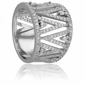 Bague Lila, Or Blanc 18k & Diamants