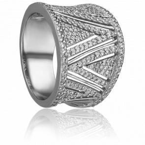 Bague Elina Or Blanc 18k & Diamants