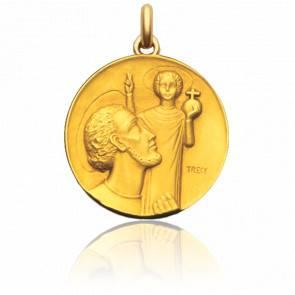 Médaille Saint Christophe de Trécy Or Jaune 18K
