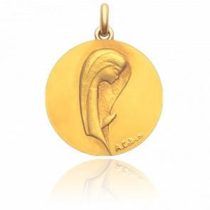 Médaille Virgo Maria Or Jaune 18K