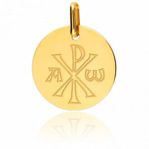 Médaille Chrisme Or Jaune 18K