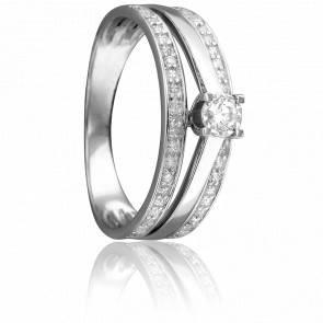 Bague Sixtine Or Blanc 18K et Diamants