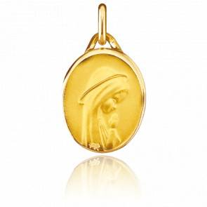 Médaille Vierge Moderne Ovale Or Jaune 18K
