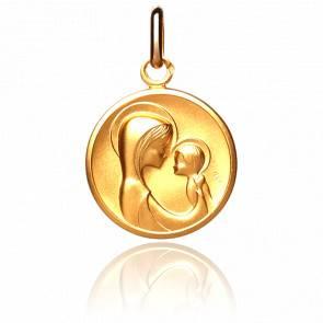 Médaille Maternité Stylisée Or Jaune 18K