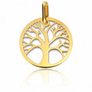 Médaille Arbre de Vie Ajourée Or Jaune 9K