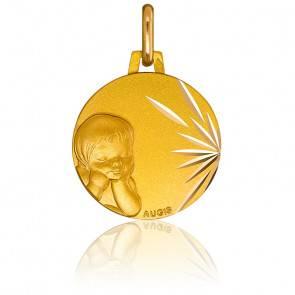 Médaille Enfant rêveur Or Jaune 18K