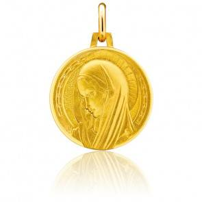 Médaille Vierge Renaissance Or Jaune 18K