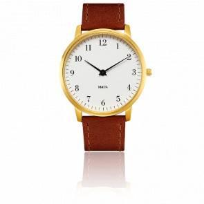 M&Co Brass Bodoni Watch 40mm