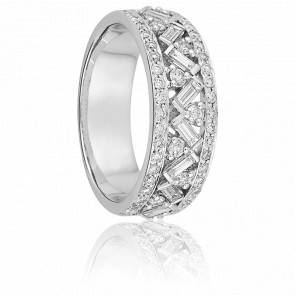 Alliance Synave Or Blanc 18K & Diamants