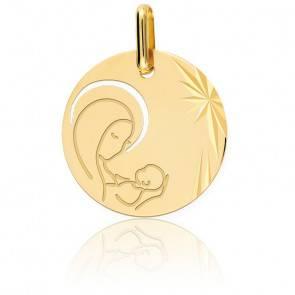 Médaille Vierge à l'Enfant Ajourée Or Jaune
