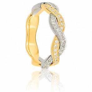 Alliance Rousseau Deux Ors 18K & Diamants