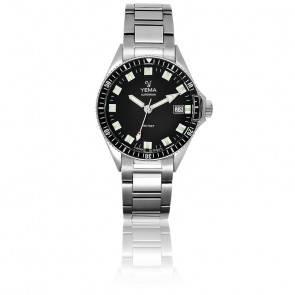 Superman Black Bracelet Acier YMHF1551-AM