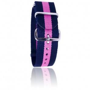 Bracelet Nato Bleu/rose