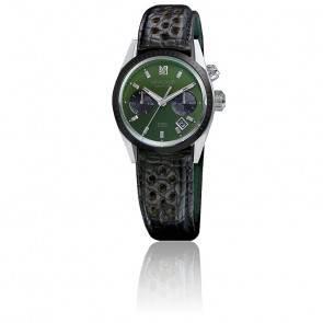 Agenda automatique Evergreen bracelet Alligator noir perforé AGENDAAEGALL2