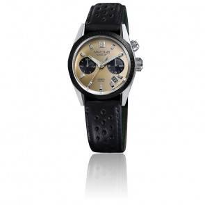 Agenda automatique Magnum bracelet Harrisson noir perforé AGENDAAMGL16