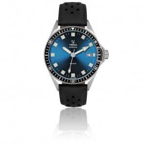 Superman Lagoon Bracelet Cuir Noir Perforé YMHF1557-GS11