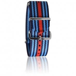 Bracelet Navy rayé bleu/bande rouge