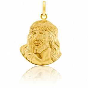 Pendentif Portrait Relief Christ Or Jaune 18K