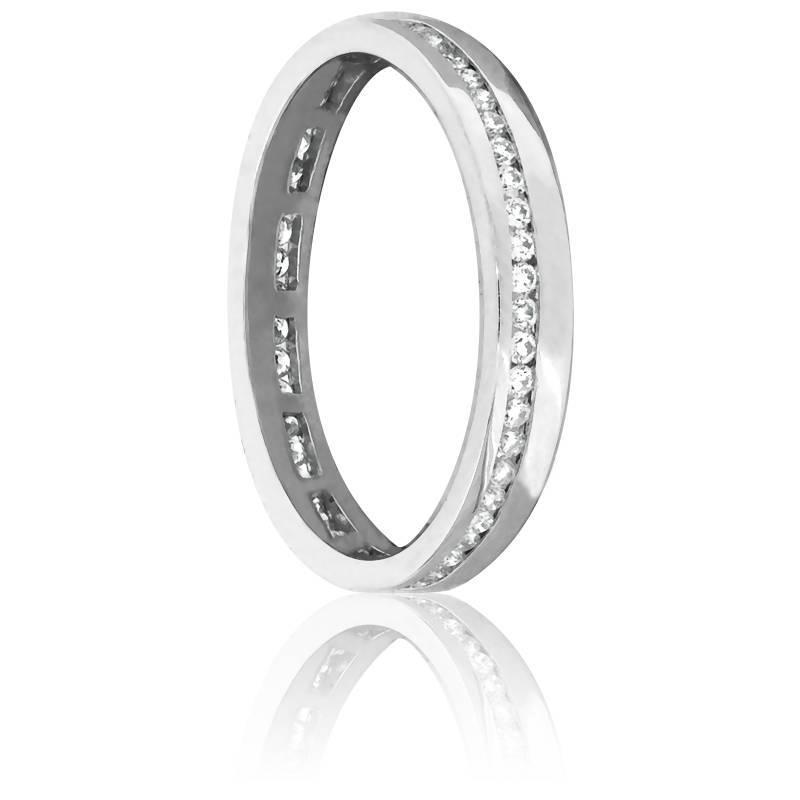 Alliance Tournoyante Or Blanc 18K & Diamants