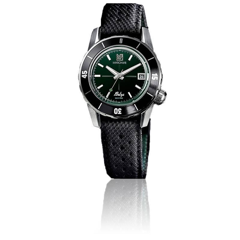 Montre Belza Grall Automatique bracelet technique noir