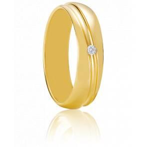Alliance Chalandri Or Jaune et Diamant