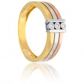 Bague Trilogie Diamants & 3 Ors 9K