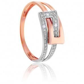 Bague Union Diamants 2 Ors 18K
