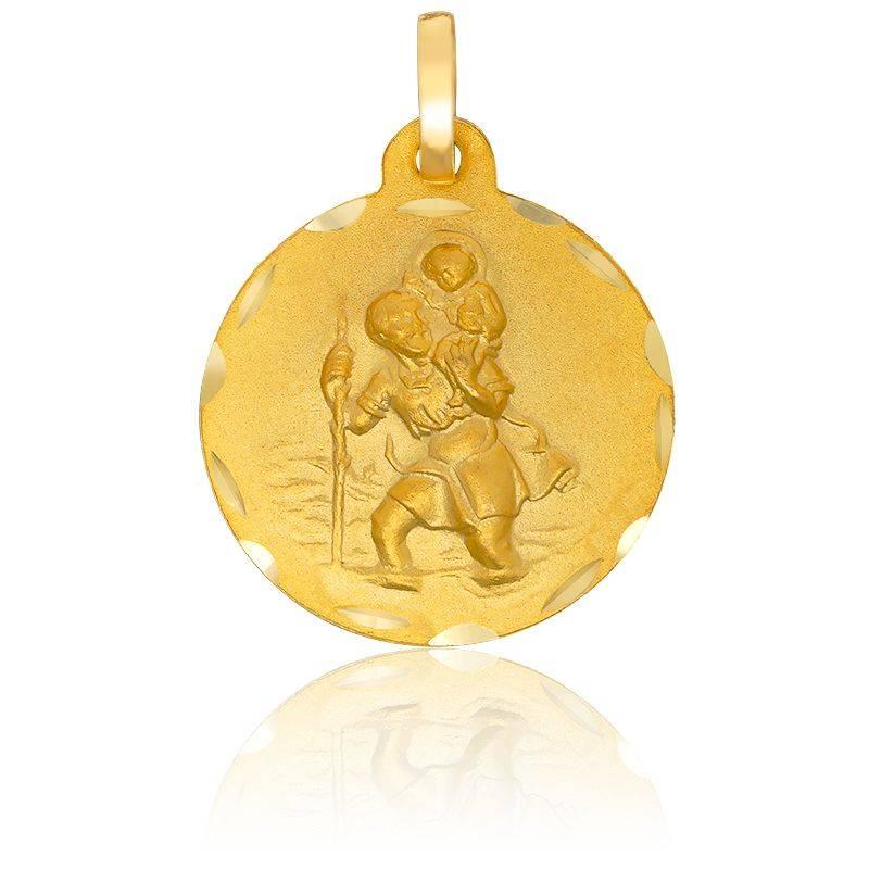 Médaille Saint Christophe Or Jaune 18K