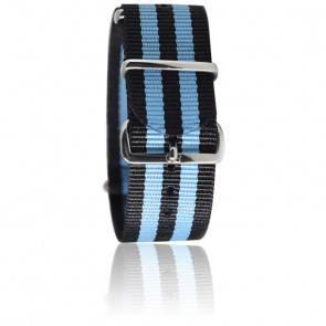 Bracelet James Bond Noir/bleu