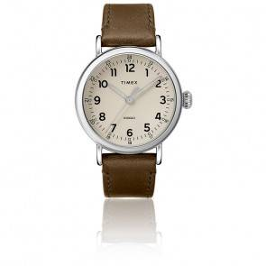 Montre The Standard 40mm Silver-Tone Leather TW2T20100