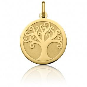 Médaille Arbre de Vie Arabesque Or Jaune 18K