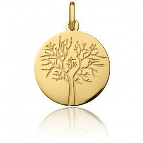 Médaille Arbre de Vie Hiver Or Jaune 18K