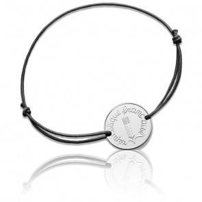 Bracelet Cordon 1 Centime Epi 1968 Argent