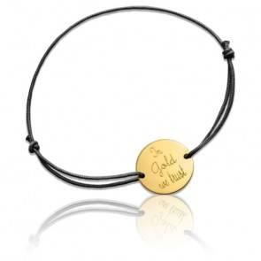 "Bracelet à Message ""In Gold We Trust"" Or Jaune 18K"
