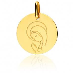 Médaille Vierge en Prière Or Jaune