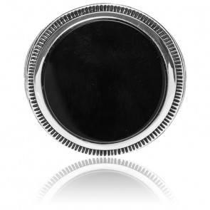 Chevalière enigmatique onyx noir & argent