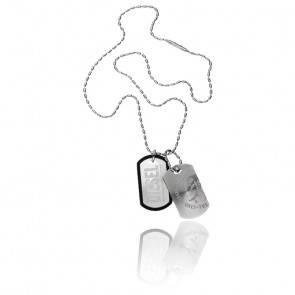 Collier brave tag gris, DX0011040