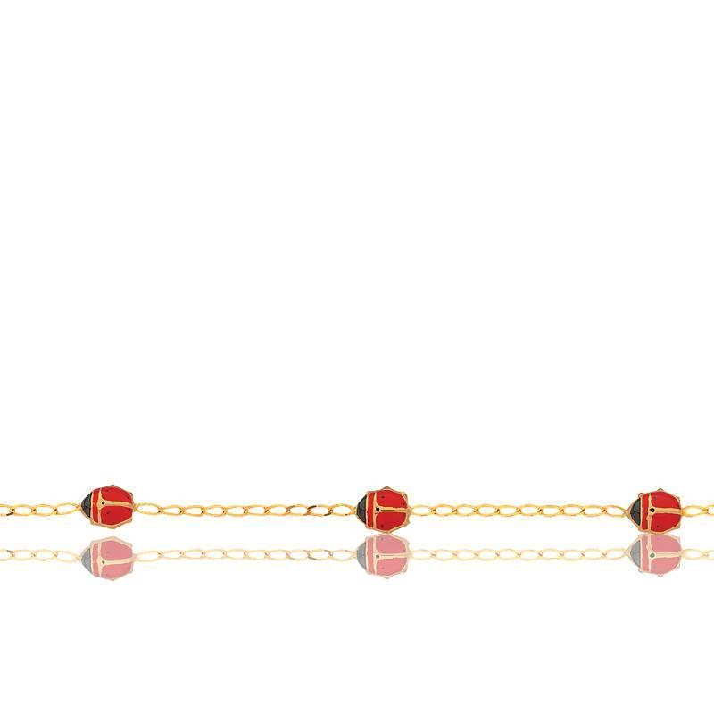Bracelet Coccinelles Or Jaune