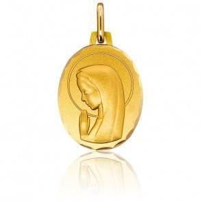 Médaille Vierge en Prière Ovale Or Jaune