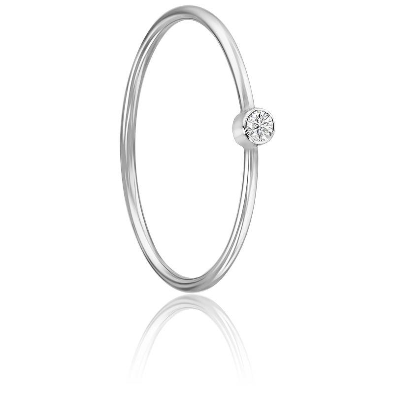 Bague Lonely Star Or Blanc 18K